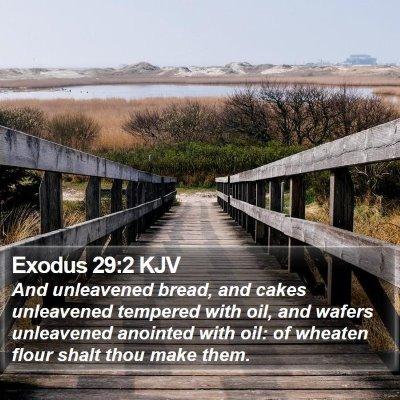 Exodus 29:2 KJV Bible Verse Image