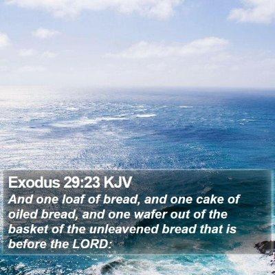 Exodus 29:23 KJV Bible Verse Image