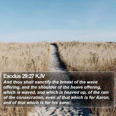 Exodus 29:27 KJV Bible Verse Image