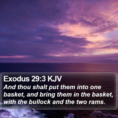 Exodus 29:3 KJV Bible Verse Image