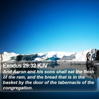 Exodus 29:32 KJV Bible Verse Image