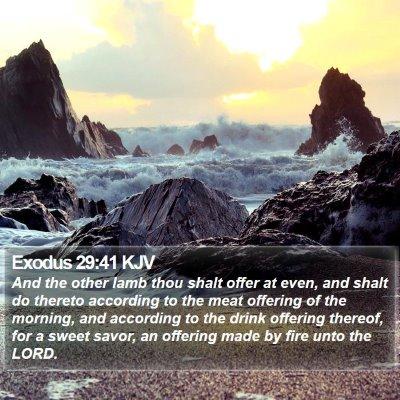 Exodus 29:41 KJV Bible Verse Image