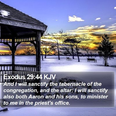 Exodus 29:44 KJV Bible Verse Image