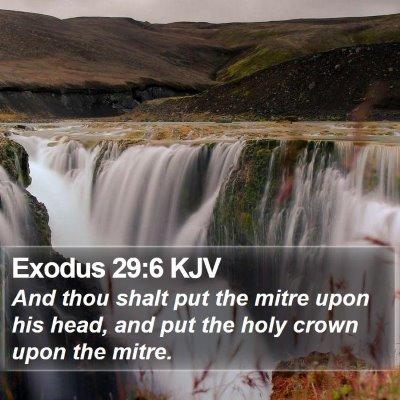 Exodus 29:6 KJV Bible Verse Image