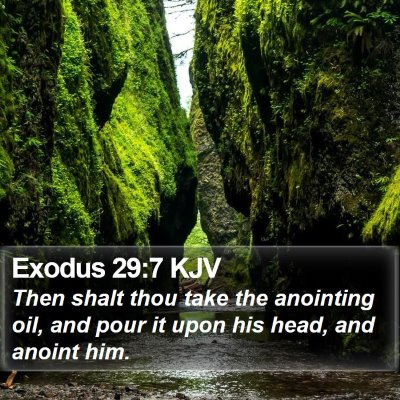 Exodus 29:7 KJV Bible Verse Image