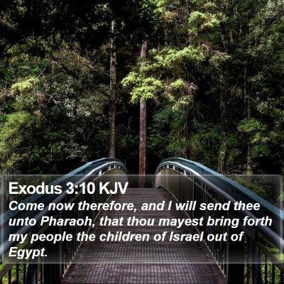 Exodus 3:10 KJV Bible Verse Image