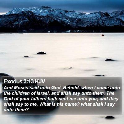 Exodus 3:13 KJV Bible Verse Image