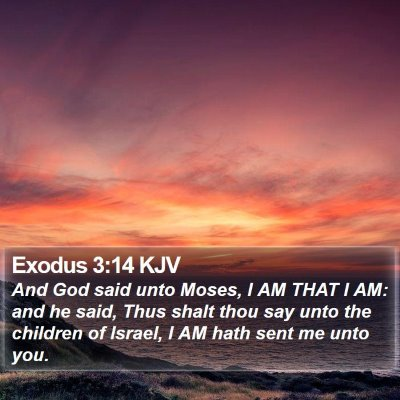 Exodus 3:14 KJV Bible Verse Image