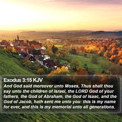 Exodus 3:15 KJV Bible Verse Image