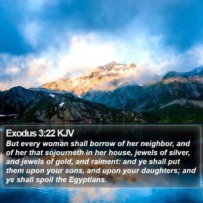 Exodus 3:22 KJV Bible Verse Image