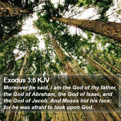 Exodus 3:6 KJV Bible Verse Image