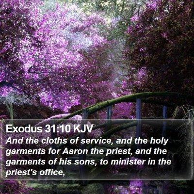 Exodus 31:10 KJV Bible Verse Image