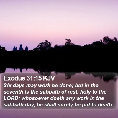 Exodus 31:15 KJV Bible Verse Image