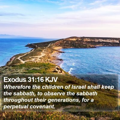 Exodus 31:16 KJV Bible Verse Image
