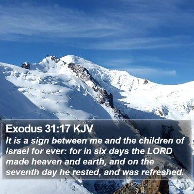Exodus 31:17 KJV Bible Verse Image