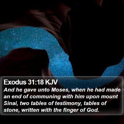 Exodus 31:18 KJV Bible Verse Image