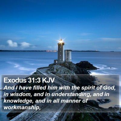 Exodus 31:3 KJV Bible Verse Image