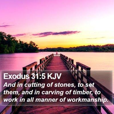 Exodus 31:5 KJV Bible Verse Image