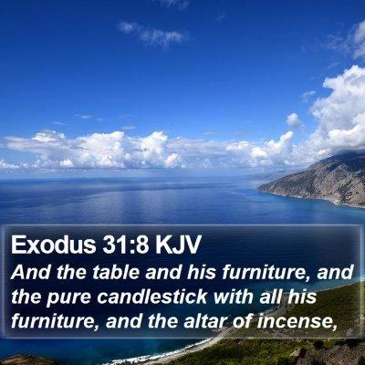 Exodus 31:8 KJV Bible Verse Image