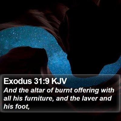Exodus 31:9 KJV Bible Verse Image