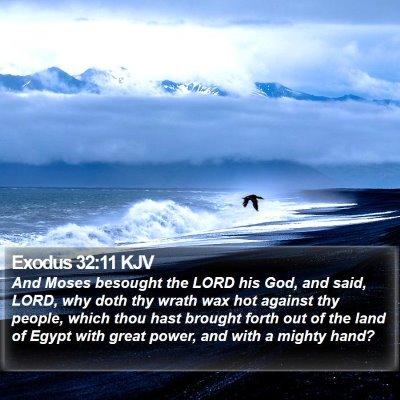 Exodus 32:11 KJV Bible Verse Image