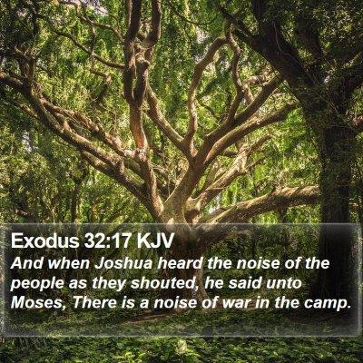 Exodus 32:17 KJV Bible Verse Image