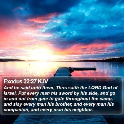 Exodus 32:27 KJV Bible Verse Image