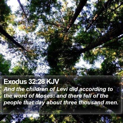 Exodus 32:28 KJV Bible Verse Image