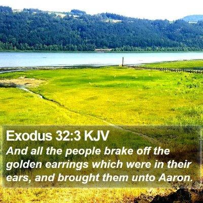 Exodus 32:3 KJV Bible Verse Image