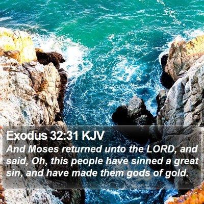 Exodus 32:31 KJV Bible Verse Image