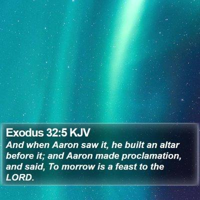 Exodus 32:5 KJV Bible Verse Image