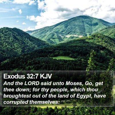 Exodus 32:7 KJV Bible Verse Image