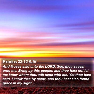 Exodus 33:12 KJV Bible Verse Image