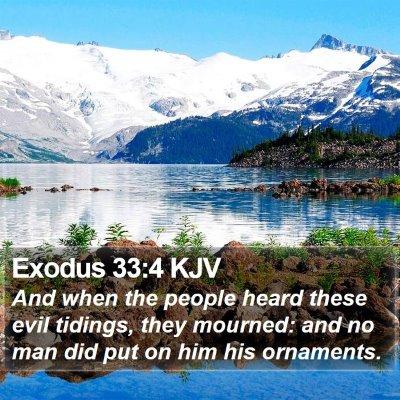 Exodus 33:4 KJV Bible Verse Image