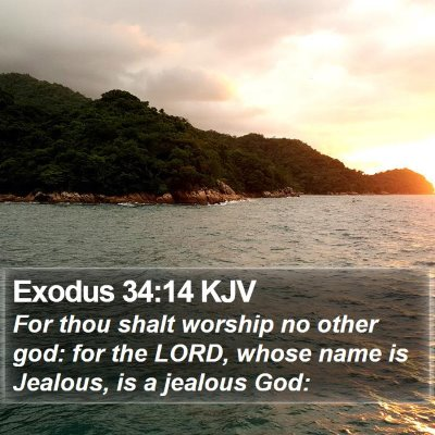 Exodus 34:14 KJV Bible Verse Image