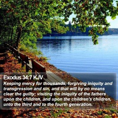 Exodus 34:7 KJV Bible Verse Image