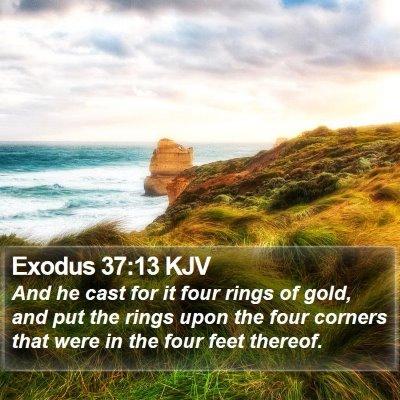 Exodus 37:13 KJV Bible Verse Image