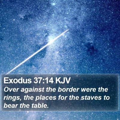 Exodus 37:14 KJV Bible Verse Image