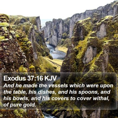 Exodus 37:16 KJV Bible Verse Image