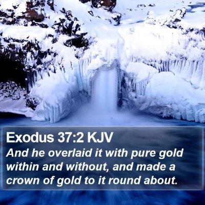 Exodus 37:2 KJV Bible Verse Image
