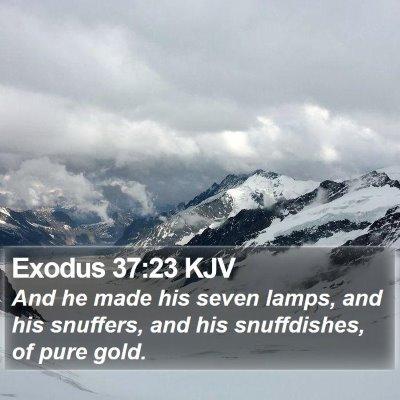 Exodus 37:23 KJV Bible Verse Image