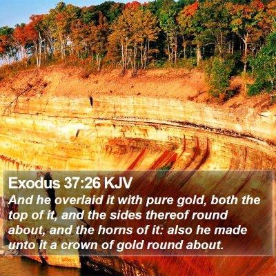 Exodus 37:26 KJV Bible Verse Image