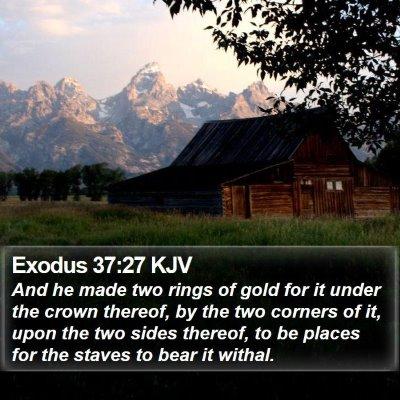 Exodus 37:27 KJV Bible Verse Image