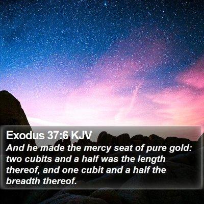 Exodus 37:6 KJV Bible Verse Image
