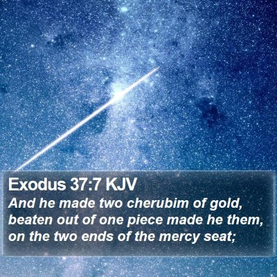 Exodus 37:7 KJV Bible Verse Image