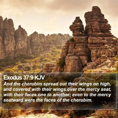 Exodus 37:9 KJV Bible Verse Image