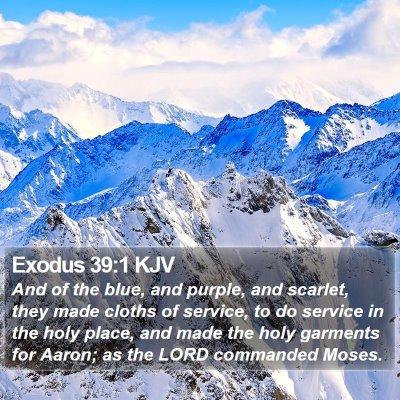 Exodus 39:1 KJV Bible Verse Image