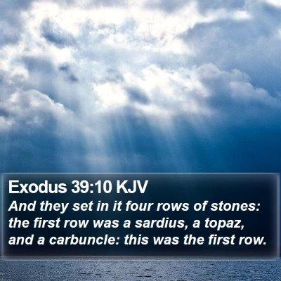 Exodus 39:10 KJV Bible Verse Image