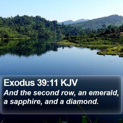 Exodus 39:11 KJV Bible Verse Image