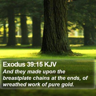 Exodus 39:15 KJV Bible Verse Image